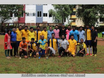 Exhibition match between Staff and Alumni