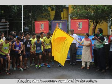Flagging off of X-country organised by the college