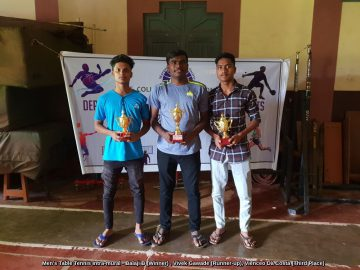 Men's Table Tennis Intra-mural - Balaji B (Winner) , Vivek Gawade (Runner-up), Vienceo Da Costa (Third Place)
