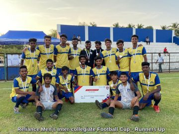 Reliance Men's Inter-collegiate Football Cup - Runners Up