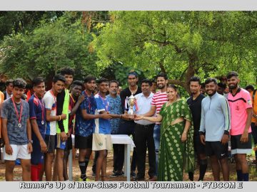 Runner's Up of Inter-Class Football Tournament - FYBCOM E