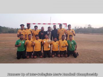 Runners Up of Inter-Collegiate Men's Handball Championship