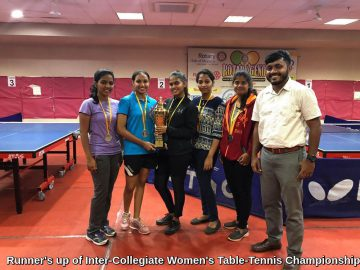 Runner's up of Inter-Collegiate Women's Table-Tennis Championship