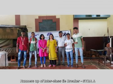 Runners up of Inter-class tie Breaker - SYBA A