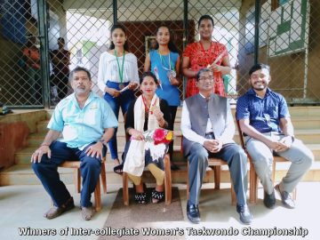 Winners of Inter-collegiate Women's Taekwondo Championship