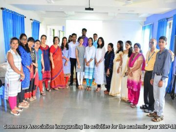 Commerce Association inaugurating its activities for the academic year 2017-18, on 13 July, 2017. (1)