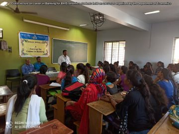 Guest lecture on career in Banking for BA Economics students held on 29012020 organised by the Department of Economics