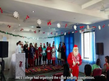 MES college had organised the carol singing competition. (1)