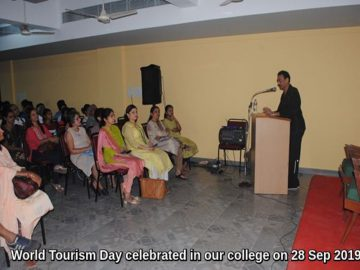 World Tourism Day celebrated in MES College of Arts & Commerce on 28 Sep. 2019 (1)