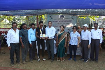 Deepak Patro - Winner of Best Athlete in Men's Category at Annual Athletic meet